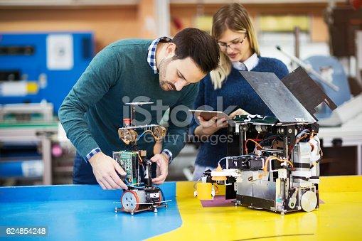 istock Engineering and robotics student 624854248
