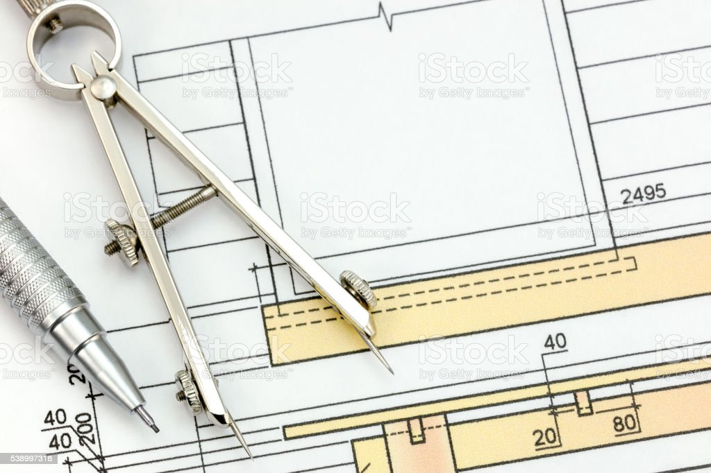Engineering blueprint with drawing tools top view stock photo more engineering blueprint with drawing tools top view royalty free stock photo malvernweather Gallery