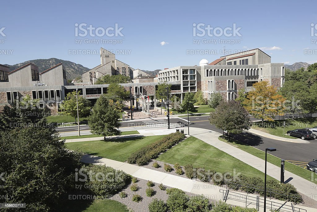 Engineering Building, University of Colorado, Boulder stock photo