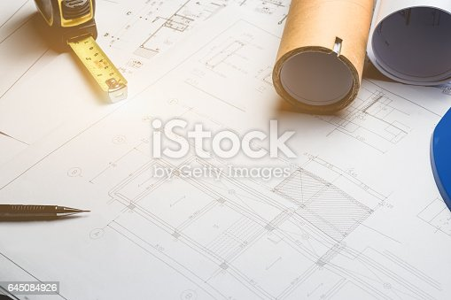 Engineering diagram blueprint paper drafting project sketch stock engineering diagram blueprint paper drafting project sketch stock photo istock malvernweather Images