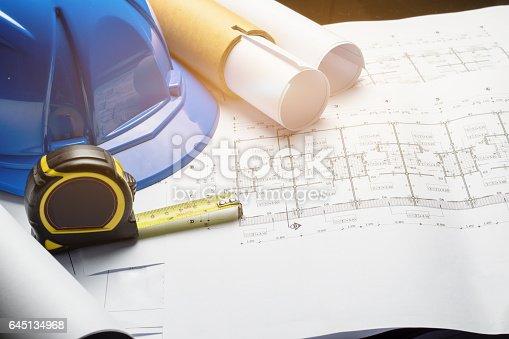 istock engineering diagram blueprint paper drafting project sketch 645134968
