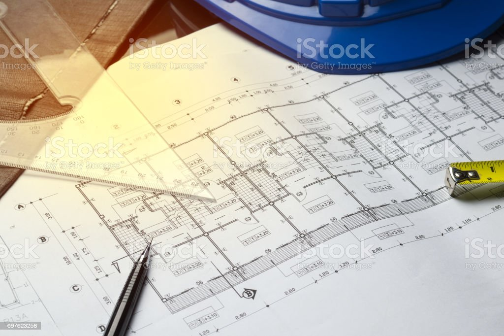 Engineering diagram blueprint paper drafting project sketch engineering diagram blueprint paper drafting project sketch architectural royalty free stock photo malvernweather Image collections