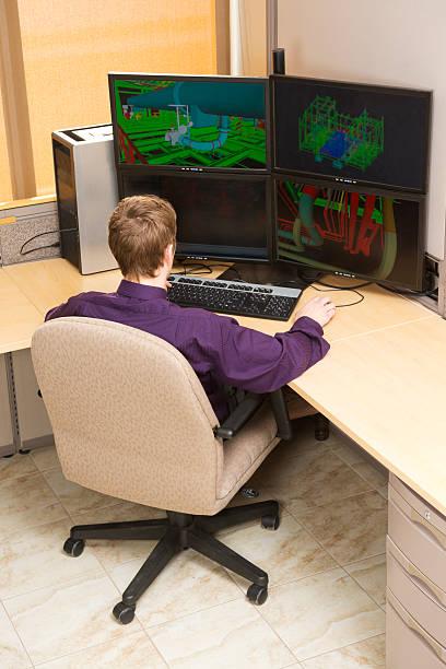 Engineering Drafting stock photo