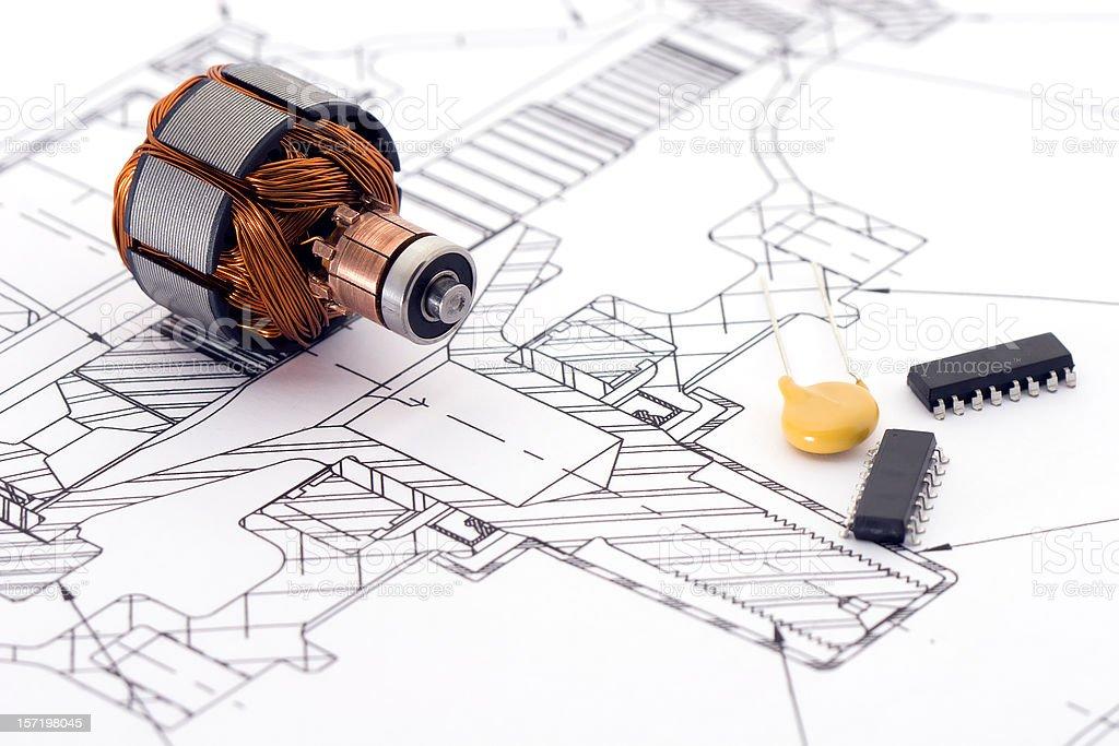 Engineering Drawing stock photo