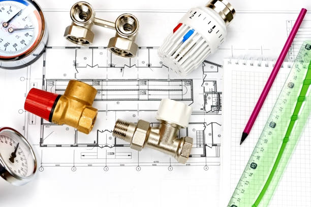 Engineering heating. Concept Heating. Project of heating for house. – Foto