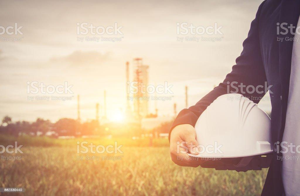 technische Mann mit Schutzhelm – Foto
