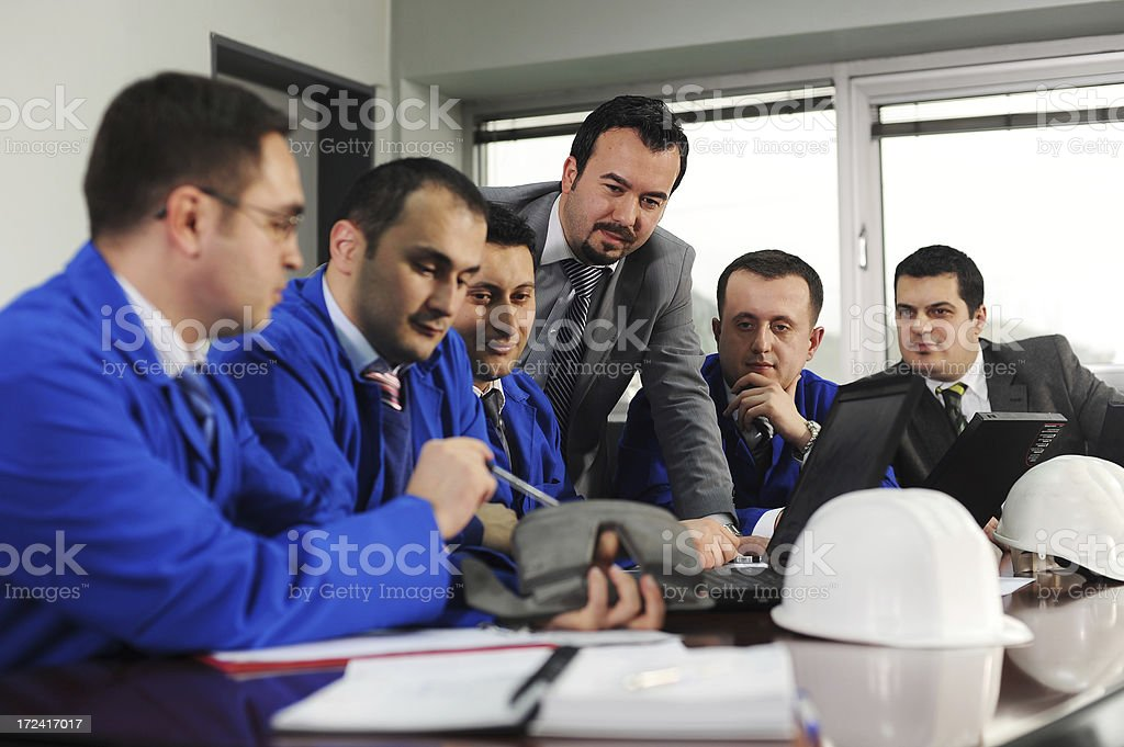 Engineering meeting royalty-free stock photo