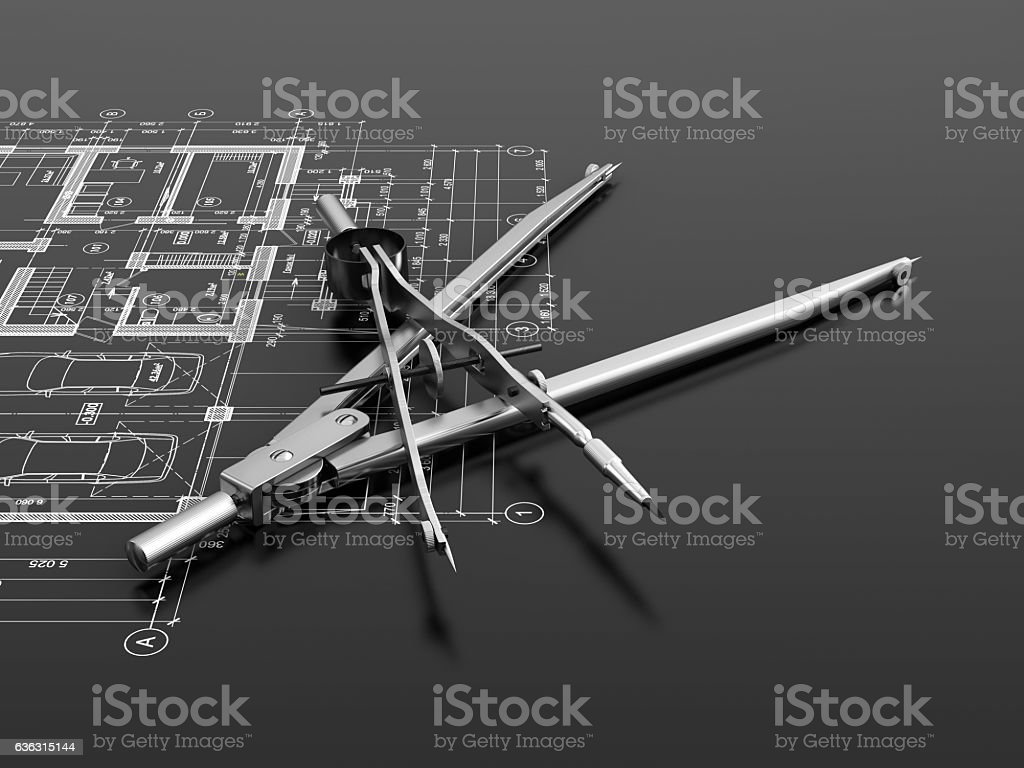 Engineering or architectural concept stock photo