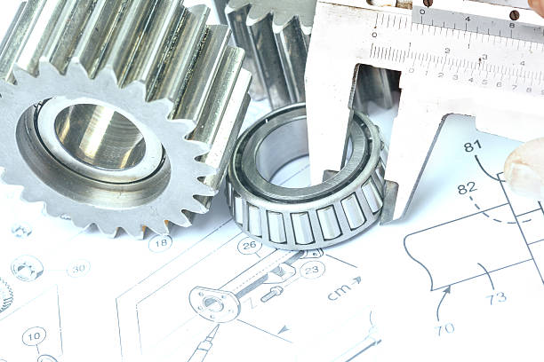 Engineering Technical drawing of Engineering mechanical engineering stock pictures, royalty-free photos & images