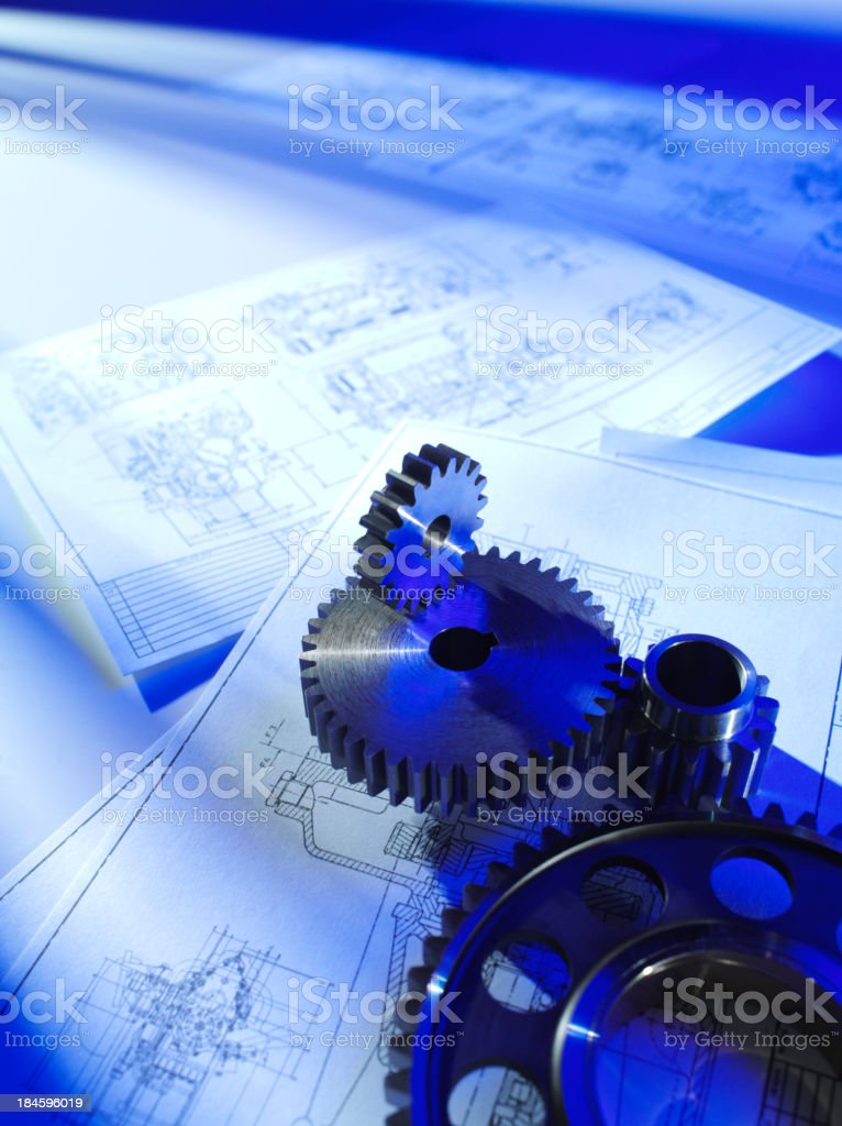 Engineering Teamwork royalty-free stock photo