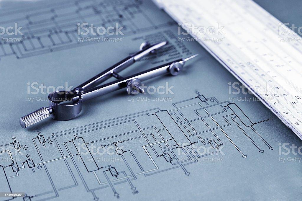 Engineering work stock photo