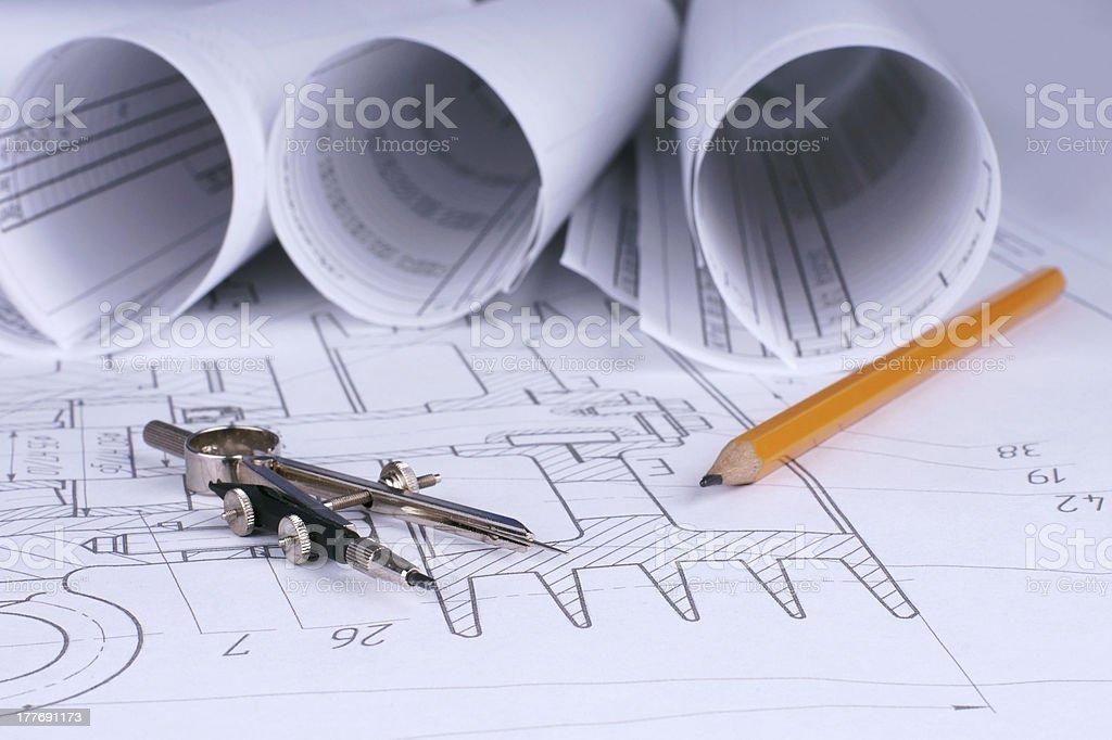 engineering work royalty-free stock photo