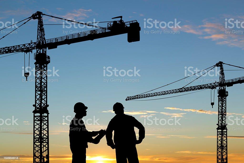Ingenieure und der Cranes – Foto