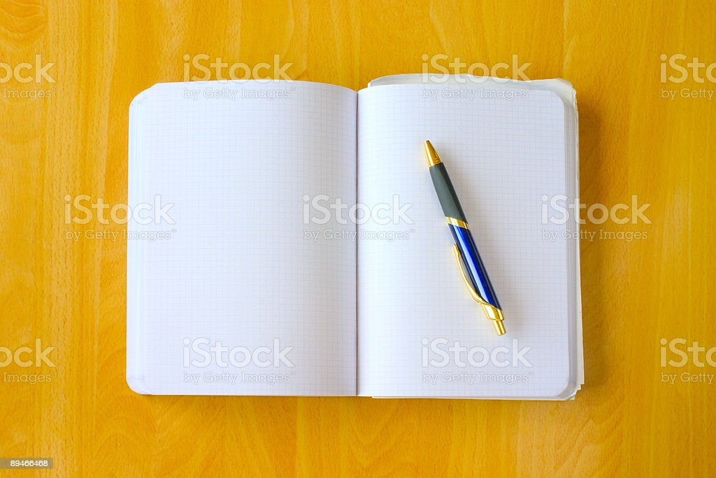 Engineer's book stock photo