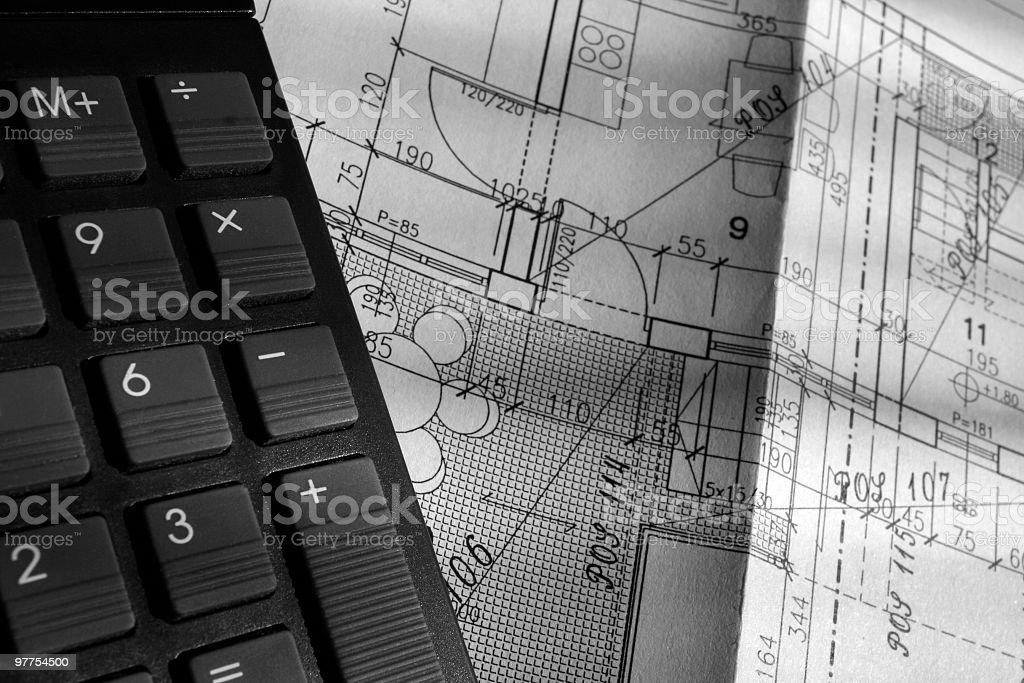 Engineers calculation stock photo