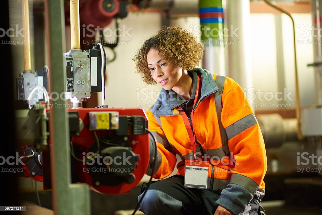 Engineer's inspection royalty-free stock photo