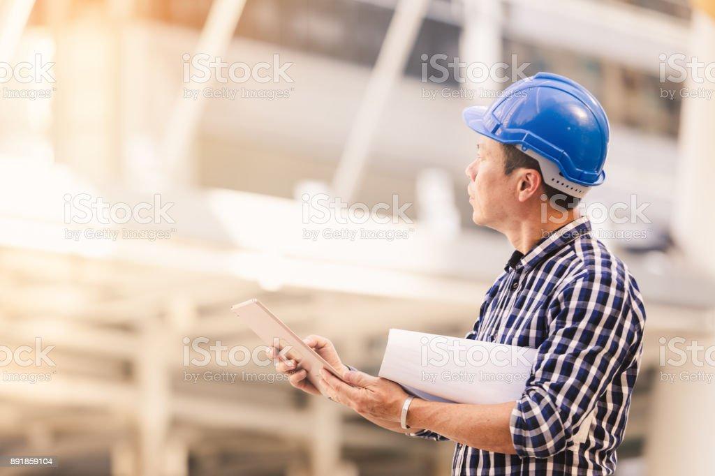 Engineers man working stock photo