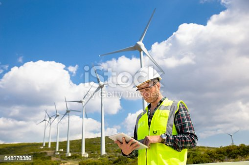 engineers of wind turbine.