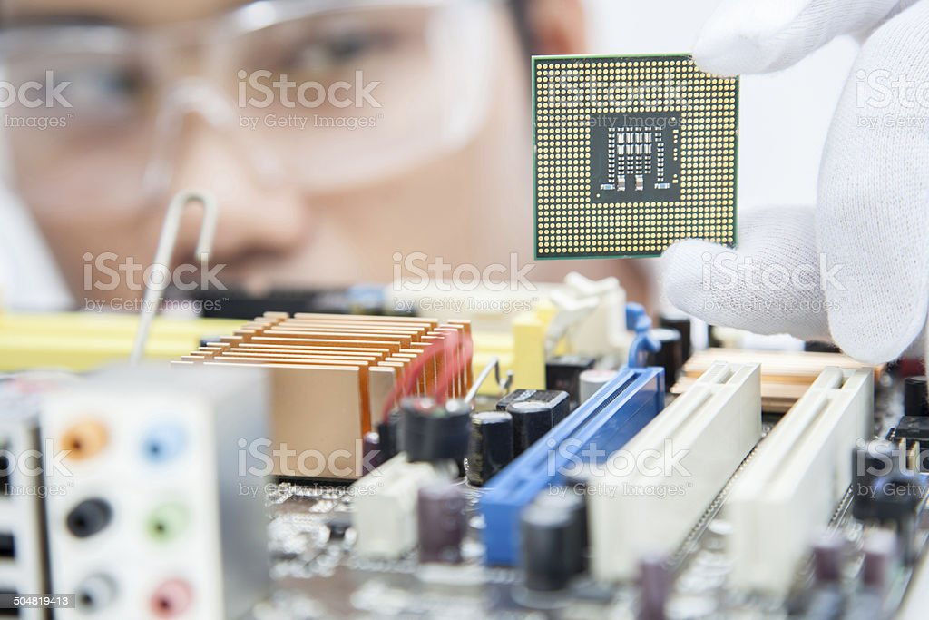 Engineers omputer. stock photo