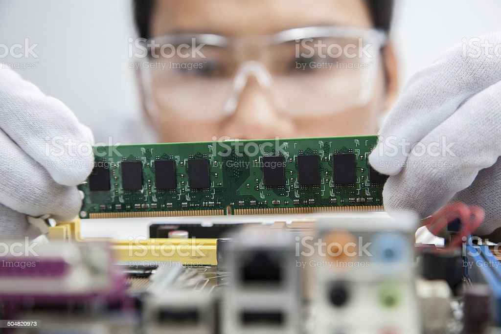 Engineers omputer. stock photo