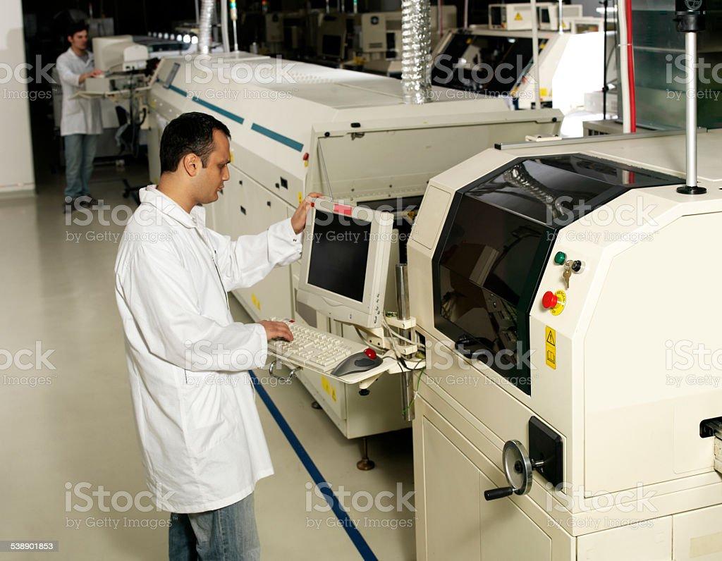 Engineers on duty stock photo