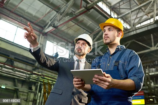 istock Engineers Planning at Factory 936149030