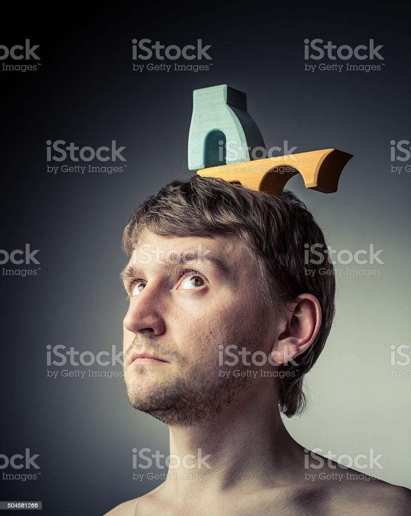 Engineer's thoughts stock photo
