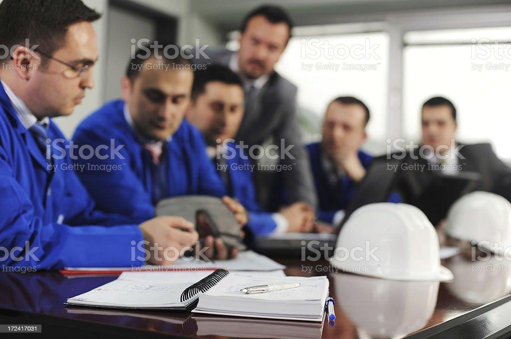 Engineers waiting for boss stock photo