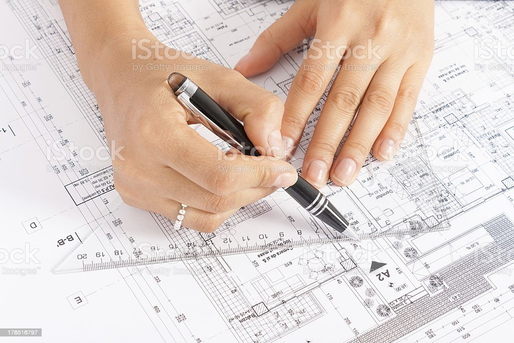 Engineer's Work royalty-free stock photo