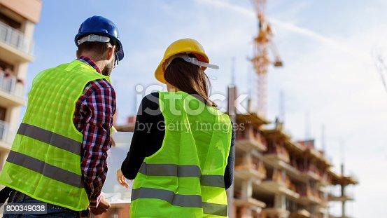 617878058istockphoto Engineers working outdoors 800349038