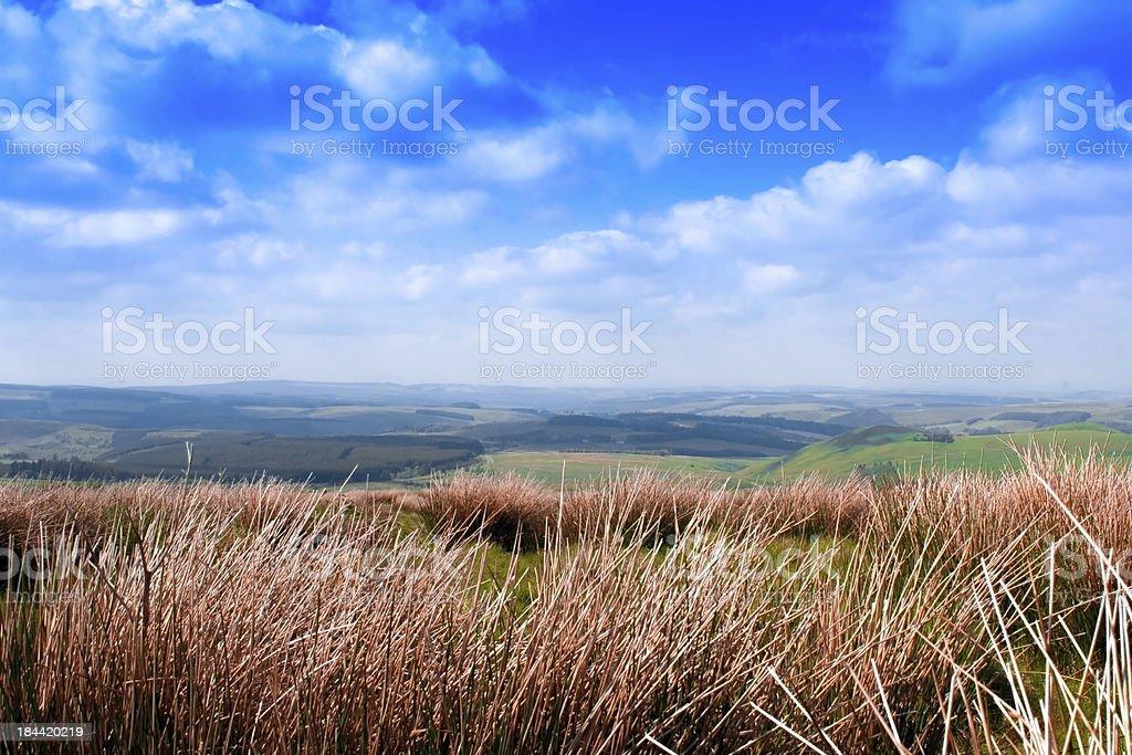 England and Scotland Borders at Carter Bar stock photo