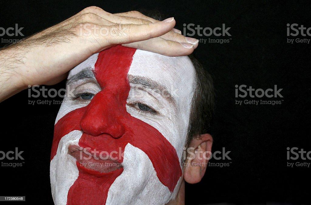 England Defeat royalty-free stock photo
