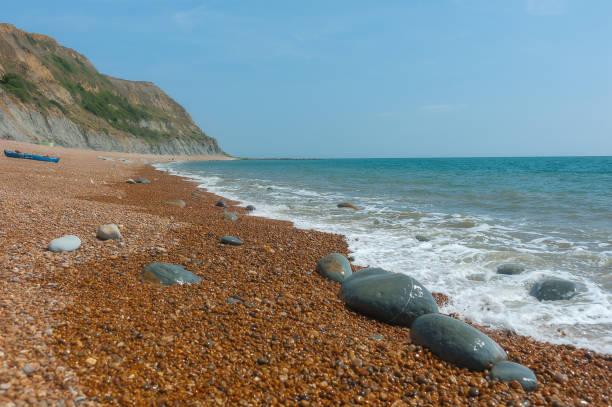 England, Dorset, Jurassic Coast: Seatown Beach stock photo