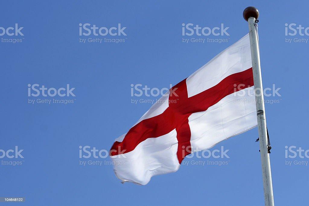England flag and sky stock photo