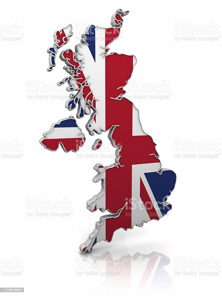 england flag & map royalty-free stock photo