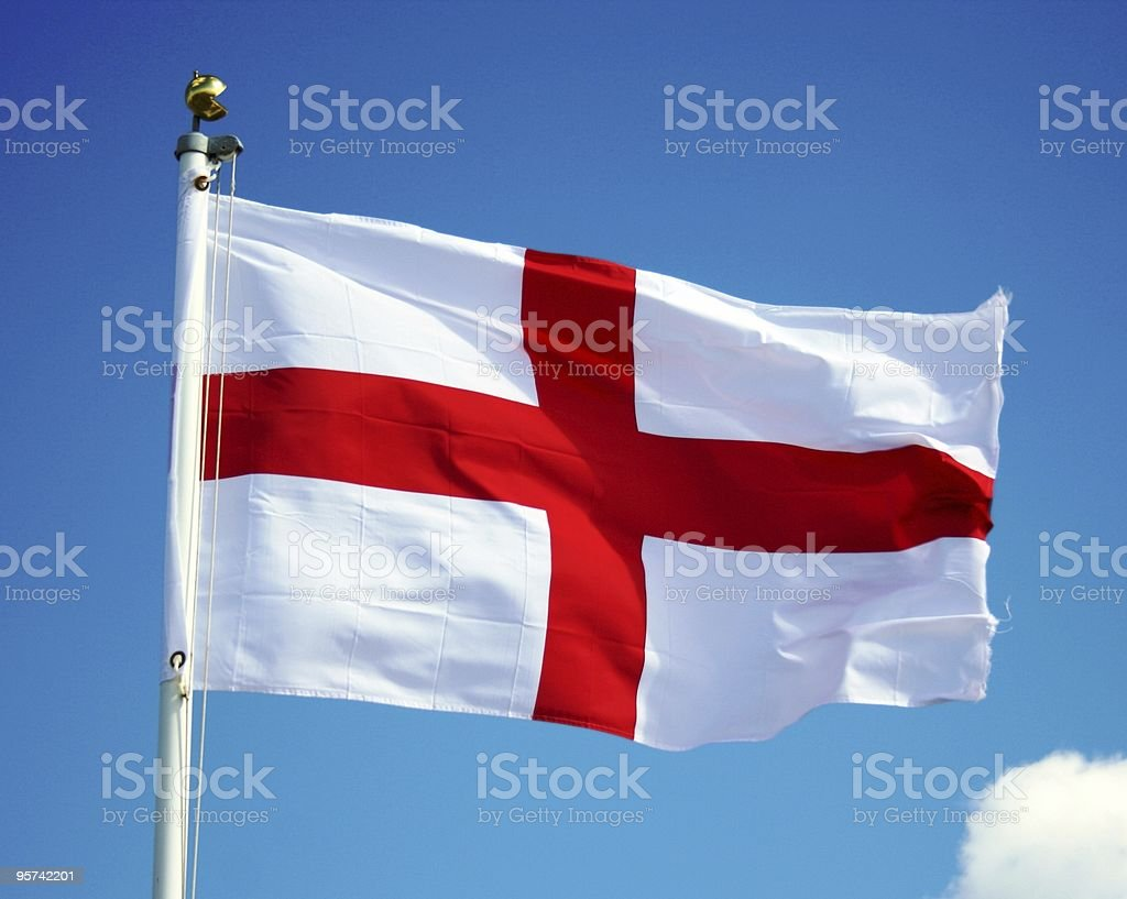 England Flag on Sky royalty-free stock photo