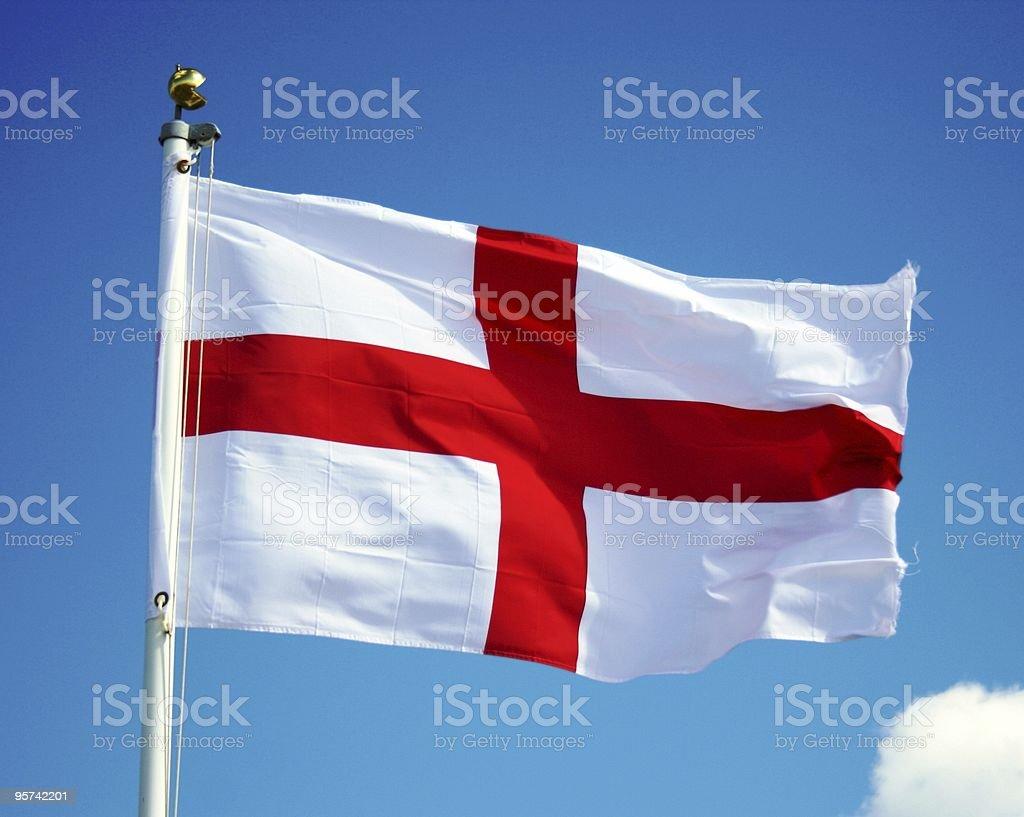 England Flag on Sky stock photo