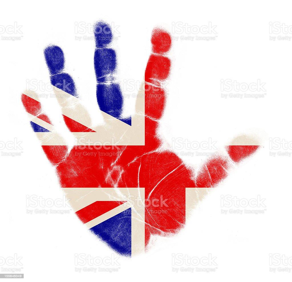 UK England flag palm print royalty-free stock photo