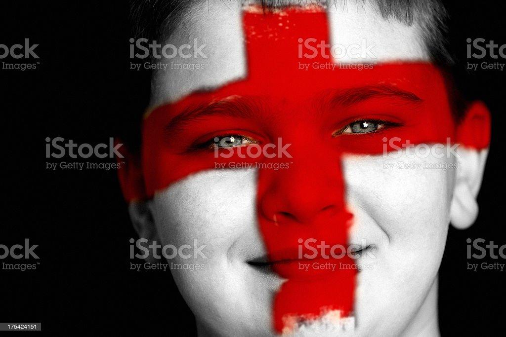 England football fan stock photo