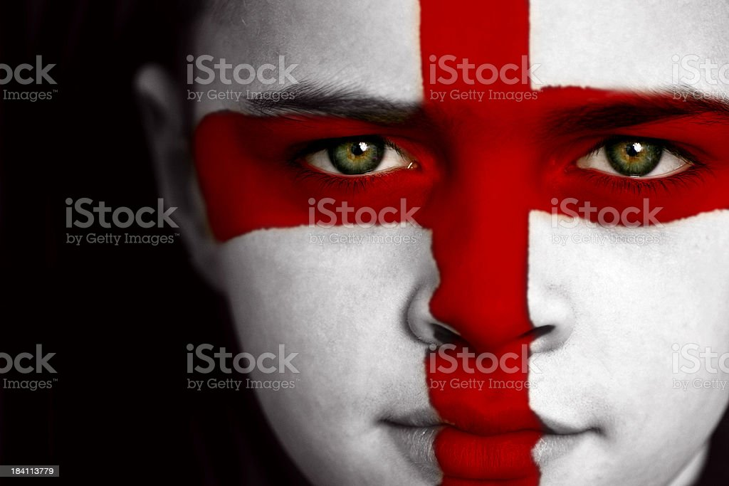 England football fan royalty-free stock photo