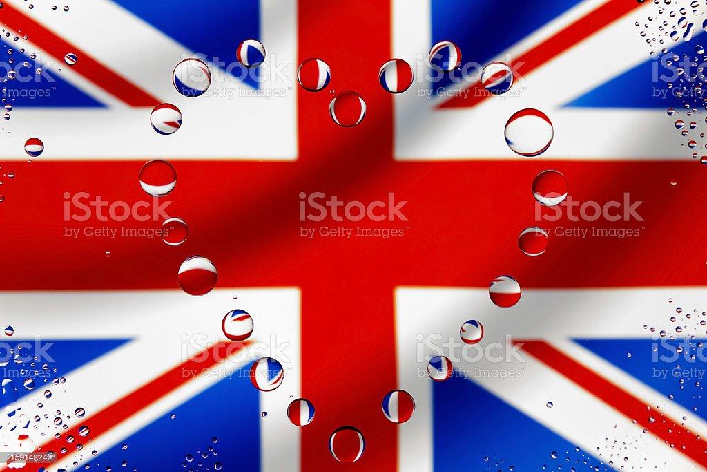 England heart royalty-free stock photo