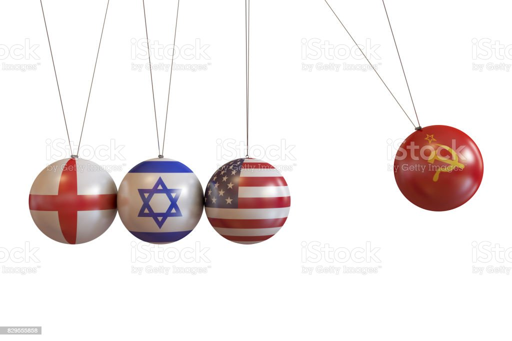England, Israel, Usa, Soviet Union Countries Pendulum stock photo