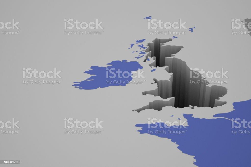 Carte De Leurope A Trou.Photo Libre De Droit De Angleterre Laissant Un Grand Trou