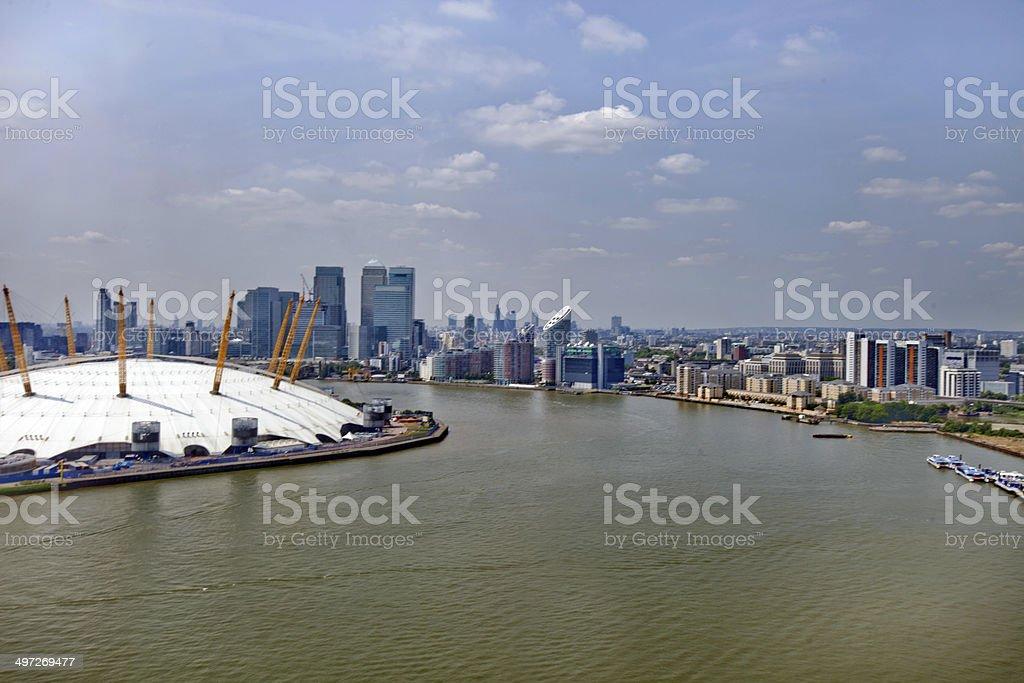 UK, England, London and Canary Wharf Skyline stock photo