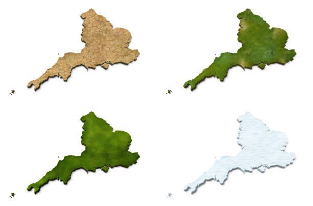 3D England Map stock photo