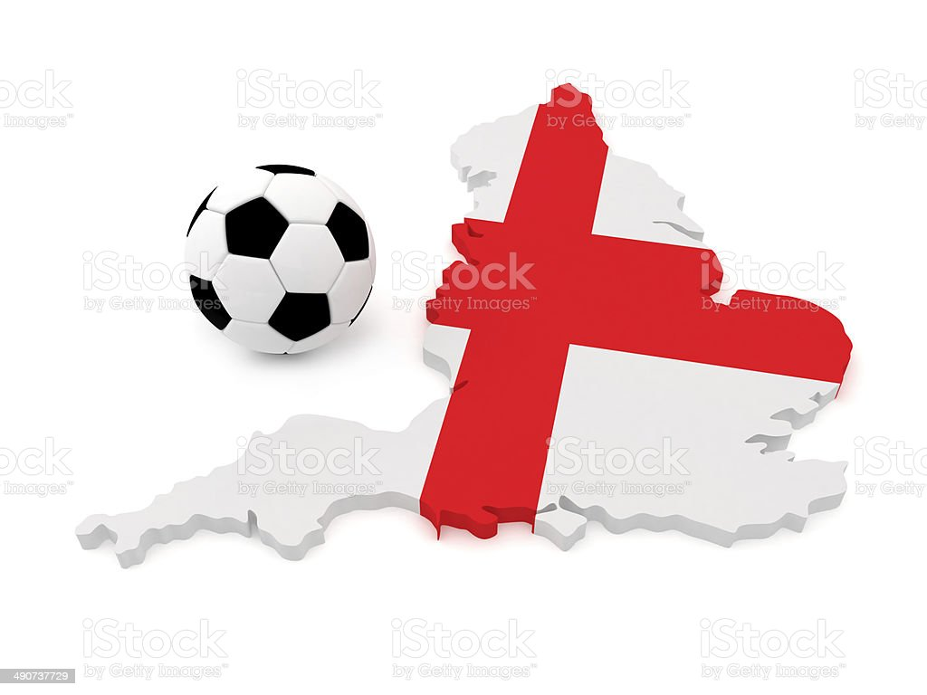 england map with soccer ball stock photo 490737729 istock