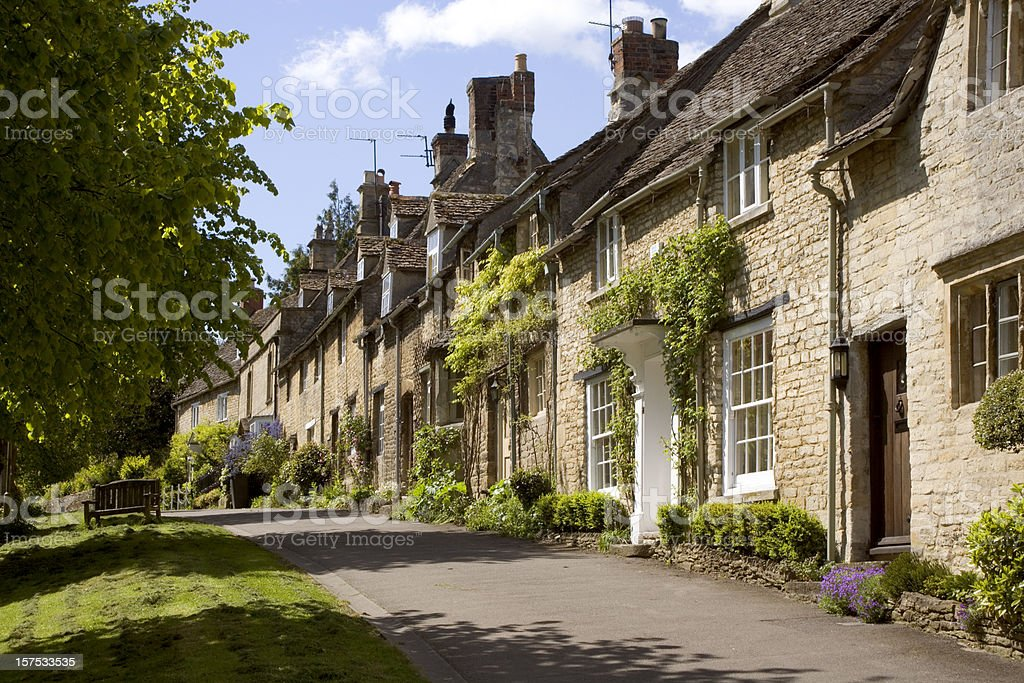 England, Oxfordshire, Cotswolds, Burford street scene stock photo