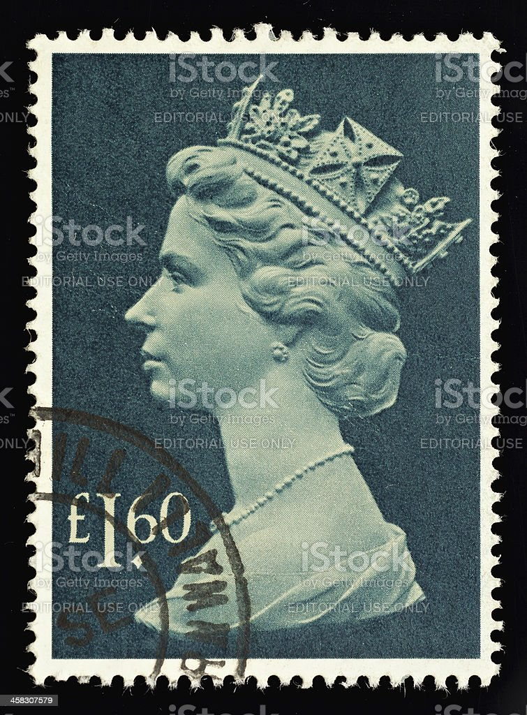 England Postage Stamp royalty-free stock photo