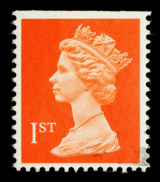 England Postage Stamp Exeter, United Kingdom - February 14, 2010: An English Used First Class Postage Stamp showing Portrait of Queen Elizabeth 2nd, printed and issued in 1998 stamp stock pictures, royalty-free photos & images