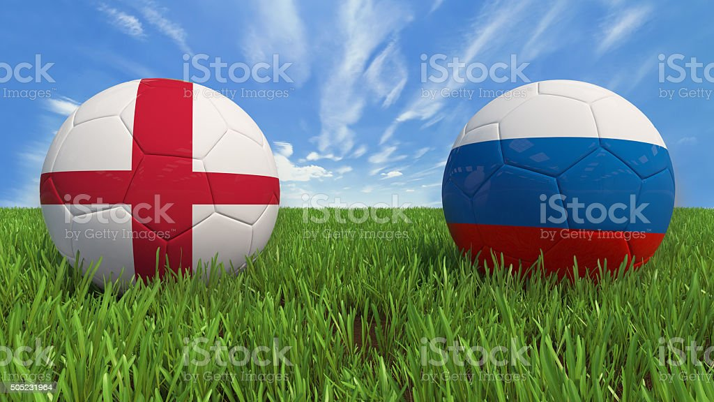 England - Russia stock photo